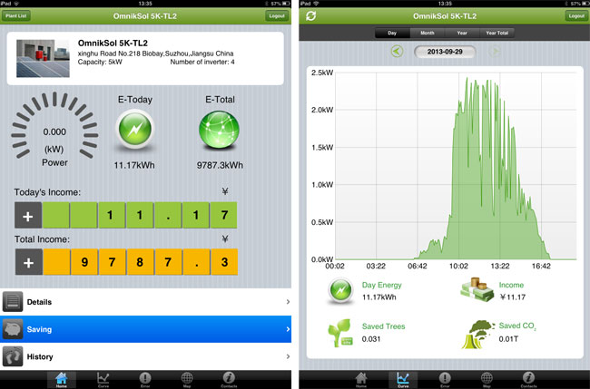 omnik app screenshots