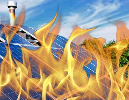Zijn zonnepanelen gevaarlijk bij brand